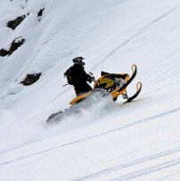 Snowmobiling in Kaslo, BC
