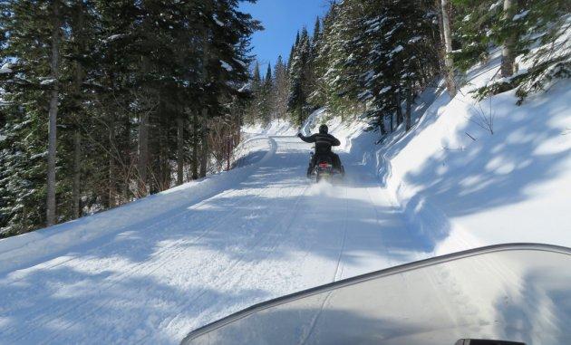 Riders enjoy the trails around St. Paul, Alberta.