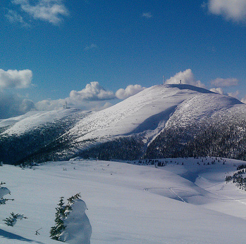 A photo of a mountain bowl near Mackenzie, B.C.