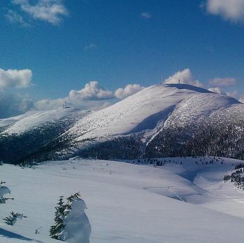 A photo of a mountain bowl near Mackenzie, B.C.