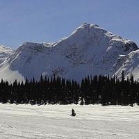 Snowmobiling in Mackenzie, BC