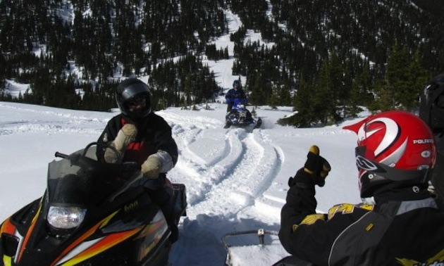 Mario Pineau and friends on Morfee Mountain Photo courtesy Mario Pineau