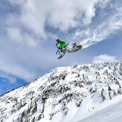 Cody Matechuk sailing through the air.