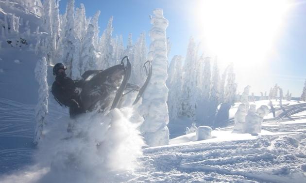 snowmobiler in Merritt