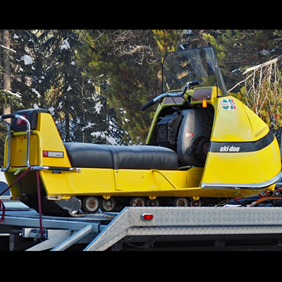 A 1970 Ski Doo, owned by Todd Jones.