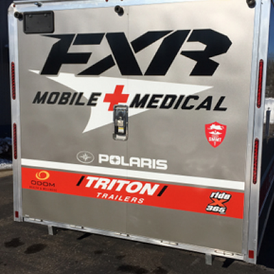 Snocross Mobile Medical Team trailer.