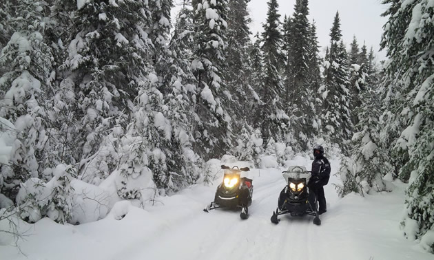 A snowmobile trail north of Hudson Bay