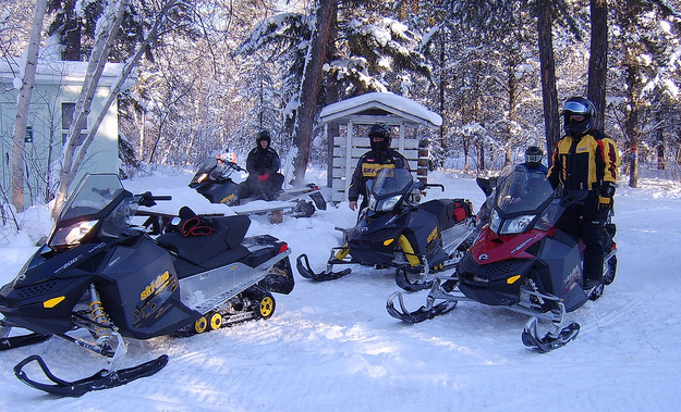 A group of friends getting ready to hit the trails in Nipawin, SK.