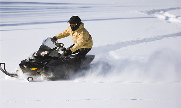 snowmobiling in Prince Albert, Saskatchewan