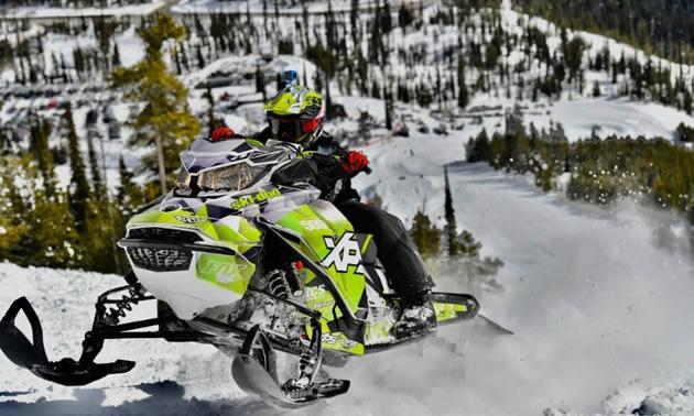 Rider competing in RMSHA Hillclimb.