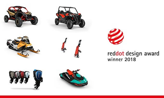 Graphic showing Red Dot product design winners.