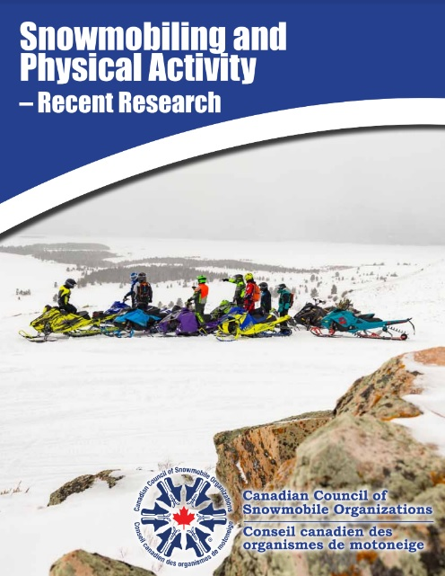 Cover of recent snowmobiling report.