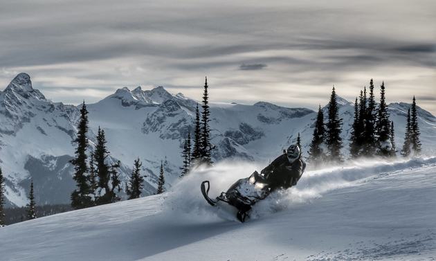Sledding in Revelstoke at the Keystone Mountain area is a keen winter enthusiast.