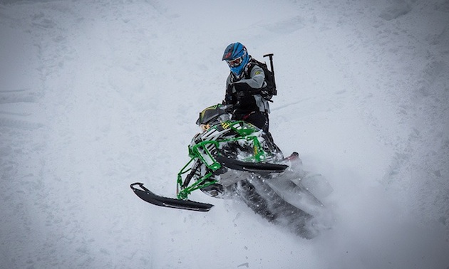 Riley Schmidt jumping his Arctic Cat.
