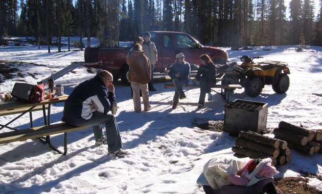 Sledding in Rocky Mountain House is a great group activity.