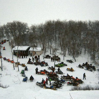 With 300 kilometres of groomed trails, the Fort Qu'Appelle area has an active club and strong sledding community.