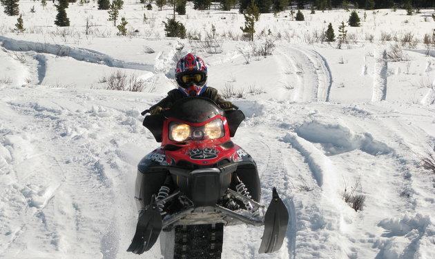 Sledding in Dawson Creek