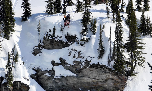 Ryan Law dropping a cornice.
