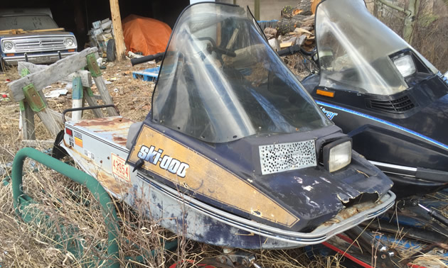 A vintage Ski-Doo Citation sled.