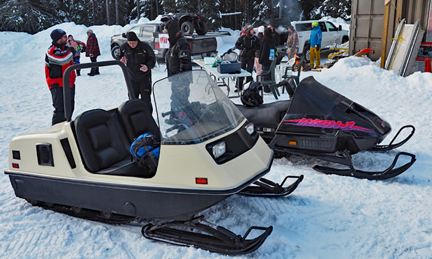 Restored Ski-Doo Elite snowmobile.