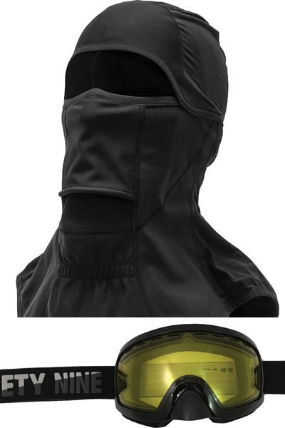 Sometimes the simplest choice is best: choose the helmet, get the balaclava and goggles.