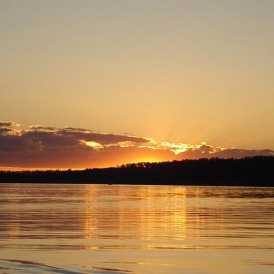 Sunset over Smoky Lake