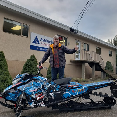 Sled donated by Kyle Epp, Cody Hartley and the 306 Riders Union with the help of Smith Grade Welding and Fabrication, Grip-N-Rip Racing, Recreation Supply & Co, Prairie Recreation, GGB Exhaust, FFUN Motorsports Saskatoon, Cheetah Factory Racing and Renegade Recreation.