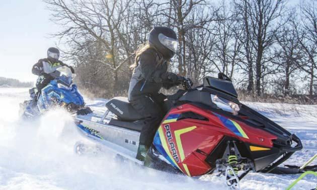 The new Polaris Indy Evo snowmobile.