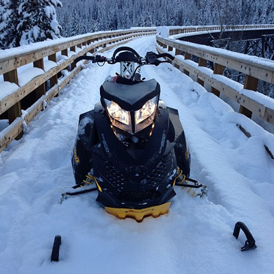 One of a number of stolen snowmobiles and motorsports products that are listed on the Central Okanagan Crime Stoppers website.