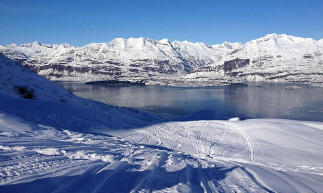 View of Bay of Valdez from Solomon Gulch.