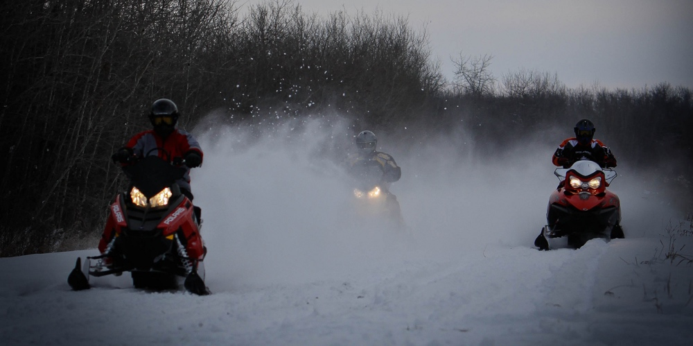 Snowmobiles in St. Paul