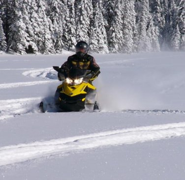 Playing in the powder is easy to do in the Swan River area.
