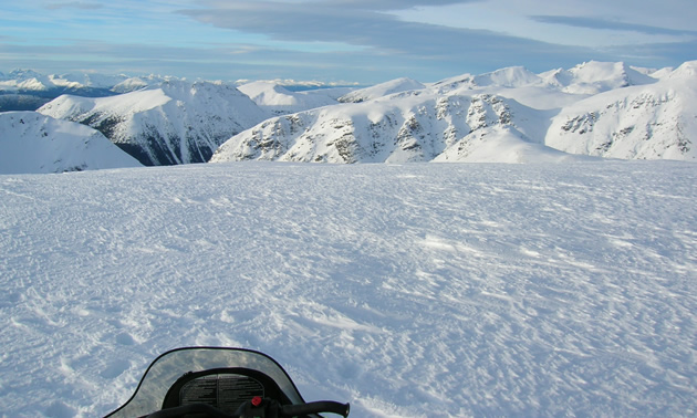 The Telkwa Range is a popular sledding area near Houston, B.C.