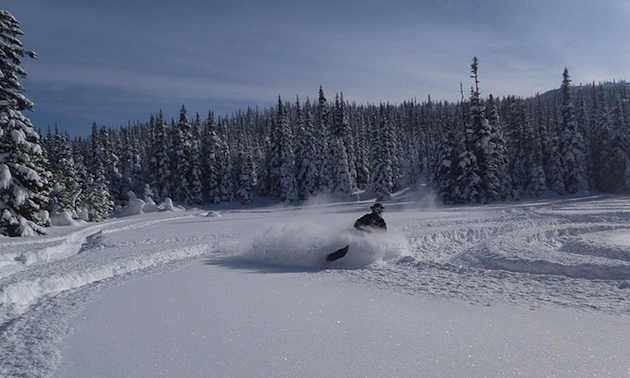 The Dome riding area near Smithers