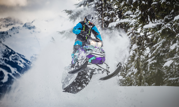 Ryan Thorley busting through the pow in Whistler, B.C.