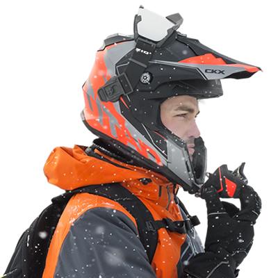 A man wearing a Titan Helmet