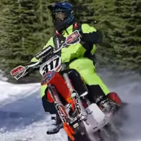 Reagan Sieg on a snowbike.