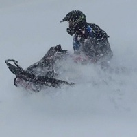 ABCSnow President Trish Drinkle gettin' some fresh powder.