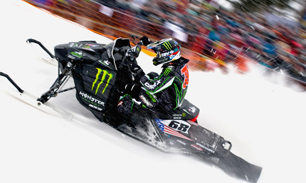 For the first time in his career, Tucker Hibbert ventured off North American soil to compete at the 2010 FIM Snocross World Championships in Mala, Sweden.