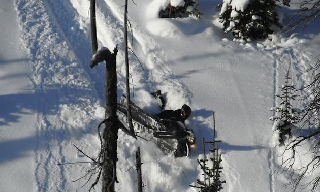 Very steep terrain in Valemount, BC