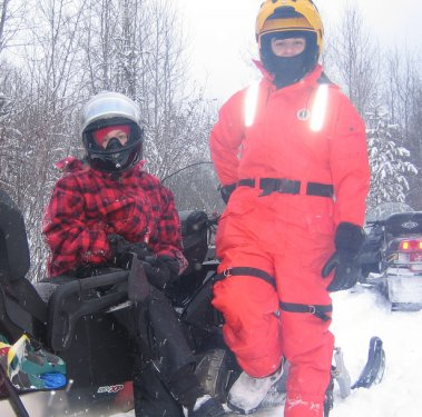 The Pushon family loves to explore the trails around Waskesiu.