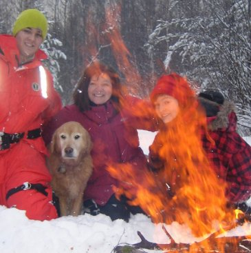 The Punshon family enjoying a