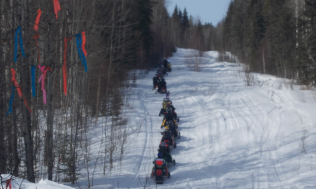 The Pembina Drift Busters invited the ASA out for a ride on their Main Loop Trail.