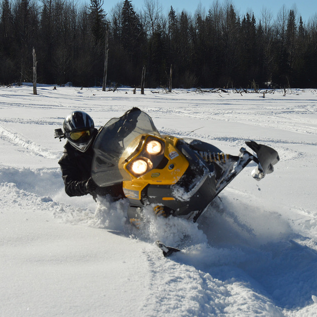 Monte Smith puts the Tundra through its paces, playing along the trails north of Whitecourt.