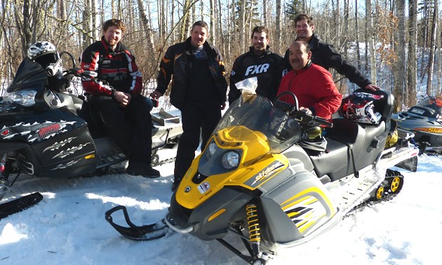 A group of riders on the whitecourt trails.