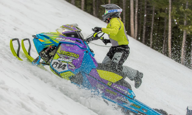 Chrystal Cooper was on a mission in the women's division and took Queen of the Hill Honours.