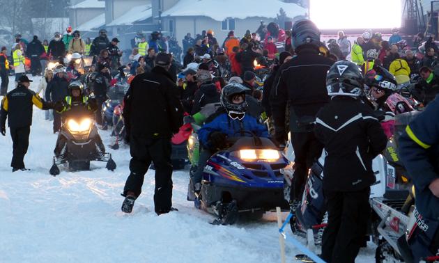 Whitecourt World Snowmobile Parade.