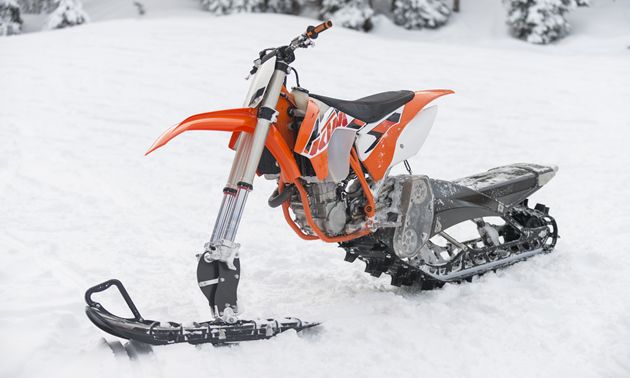 The Yeti snow bike on a KTM.