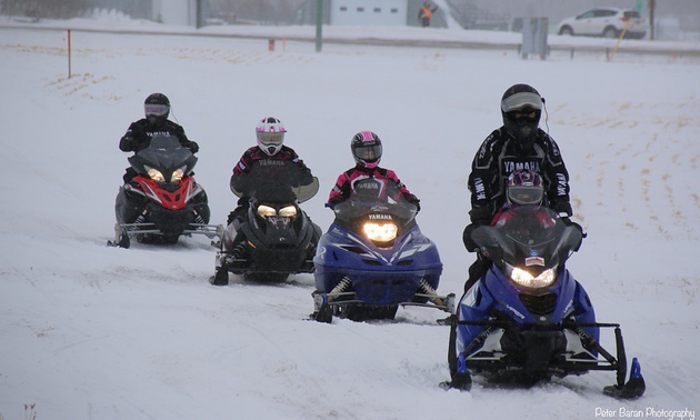 This is the Prairie Women On Snowmobiles riding through Yorkton during their 2016 ride. This non-profit group hosts annual rides in Saskatchewan to draw provincial awareness and raise funds for breast cancer research. Over the past 18 years they have raised nearly $2.5 million for this worthy cause.