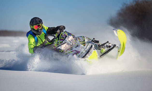 One of those secret powder stashes Michael Fidek won't say too much about.